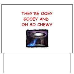 alien abduction ufo joke Yard Sign
