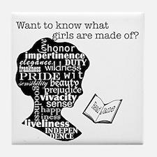 Read Jane Austen Tile Coaster
