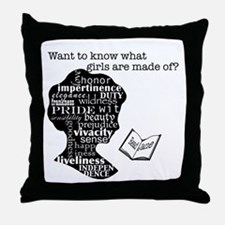 Read Jane Austen Throw Pillow