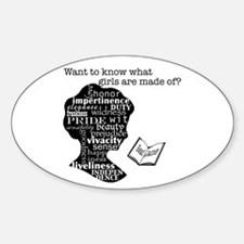 Read Jane Austen Sticker (Oval)