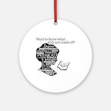 Read Jane Austen Ornament (Round)