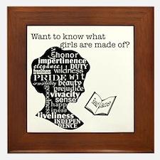 Read Jane Austen Framed Tile