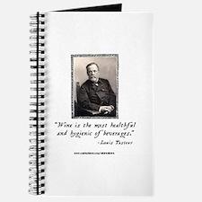 Pasteur's Healthy Wine quote Journal