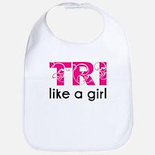 Tri like a girl Bib