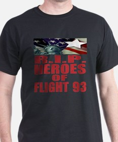 R.I.P. HEROES OF FLIGHT 93 Black T-Shirt