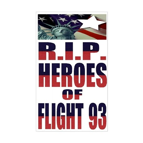 R.I.P. HEROES OF FLIGHT 93 Rectangle Sticker