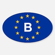 EU Belgium Sticker (Oval)
