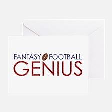 Fantasy Football Genius Greeting Card