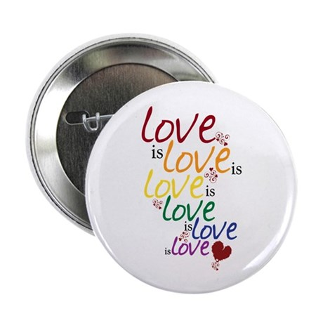 """Love is Love (Gay Marriage) 2.25"""" Button (10 pack)"""