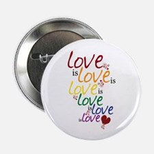 "Love is Love (Gay Marriage) 2.25"" Button (100 pack"