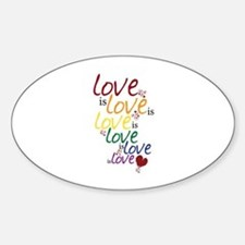 Love is Love (Gay Marriage) Decal
