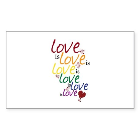 Love is Love (Gay Marriage) Sticker (Rectangle)