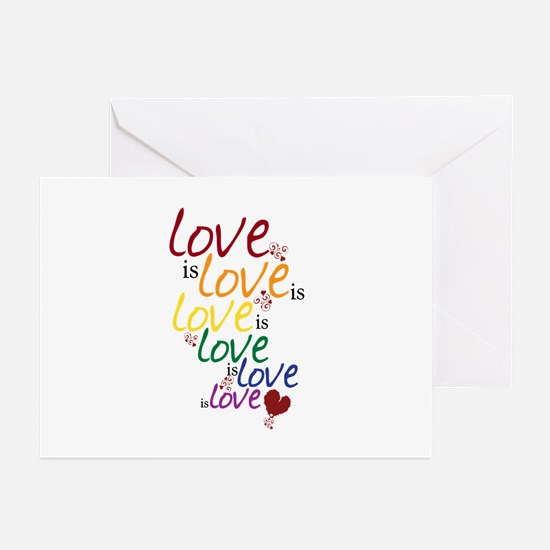 Love is Love (Gay Marriage) Greeting Cards (Pk of