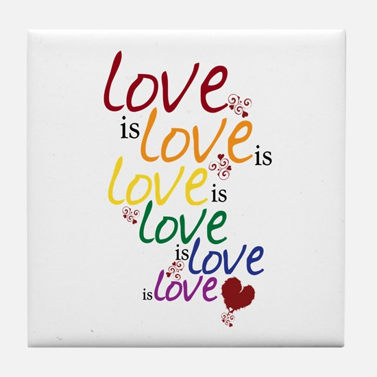 Love is Love (Gay Marriage) Tile Coaster