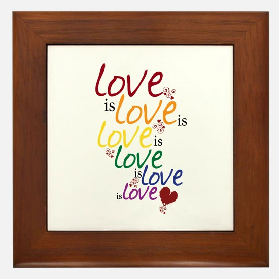 Love is Love (Gay Marriage) Framed Tile