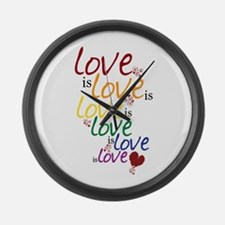 Love is Love (Gay Marriage) Large Wall Clock