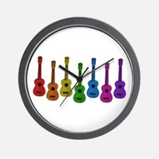 Ukulele Rainbow Wall Clock
