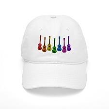 Ukulele Rainbow Baseball Cap