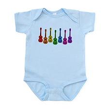 Ukulele Rainbow Infant Bodysuit