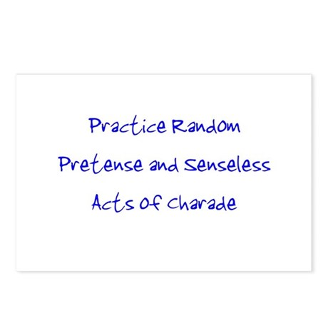 Pretense & Charade Postcards (Package of 8)