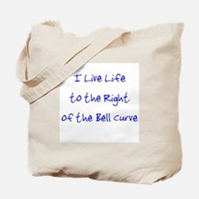 Right of the Bell Curve Tote Bag