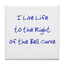 Right of the Bell Curve Tile Coaster