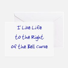 Right of the Bell Curve Greeting Card
