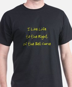 Right of the Bell Curve (dark clothing) T-Shirt