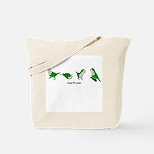 Quaker Parakeets Tote Bag