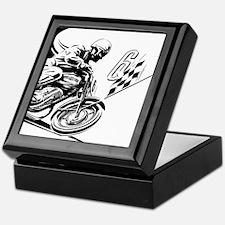 Vintage Motorcycle Racing Keepsake Box