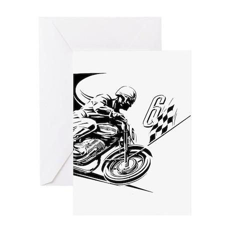 Vintage Motorcycle Racing Greeting Card