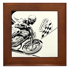 Vintage Motorcycle Racing Framed Tile