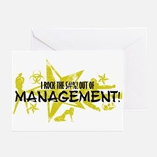 I ROCK THE S#%! - MANAGEMENT Greeting Cards (Pk of