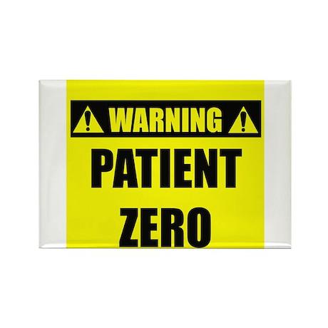 WARNING: Patient Zero Rectangle Magnet (100 pack)