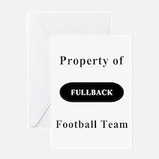 Fullback Greeting Card