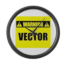 WARNING: Vector Large Wall Clock