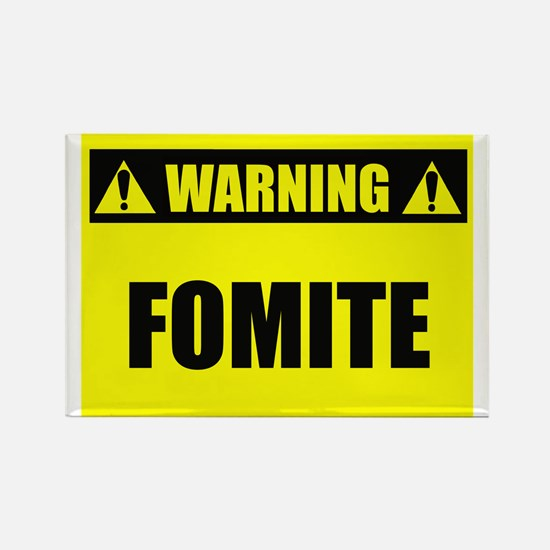 WARNING: Fomite Rectangle Magnet