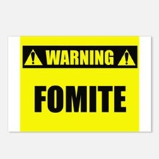WARNING: Fomite Postcards (Package of 8)