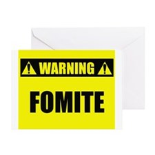 WARNING: Fomite Greeting Card