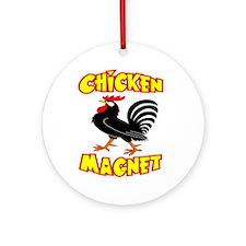 Chicken Magnet Ornament (Round)