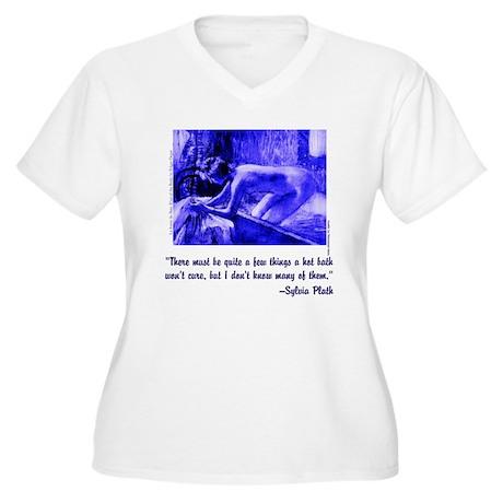 Bath Cure Women's Plus Size V-Neck T-Shirt