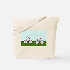 Biking Through the Prairie Tote Bag