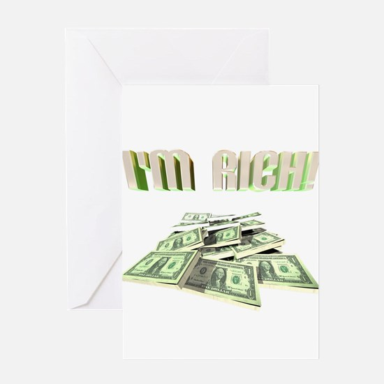 Cool Rich Greeting Card