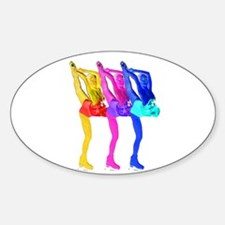 Skater Gurlz Sticker (Oval)