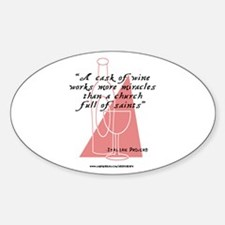 Italians and Wine Oval Decal