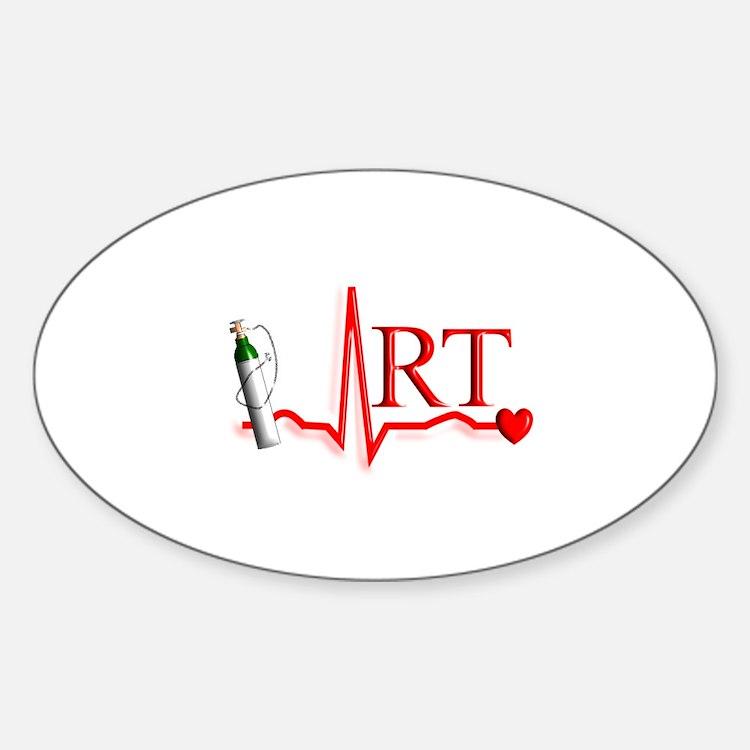 Respiratory Therapy 8 Sticker (Oval)