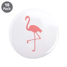 "Flamingo 3.5"" Button (10 pack)"