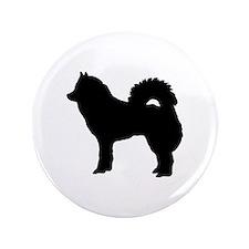 """Eurasian dog 3.5"""" Button"""