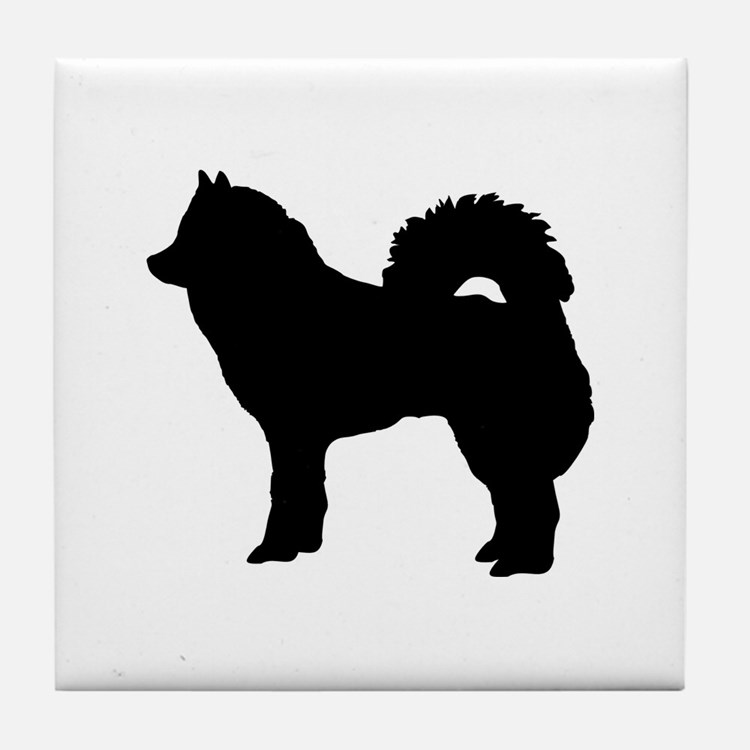Eurasian dog Tile Coaster