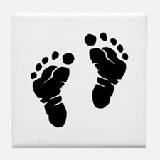 Footprints Tile Coaster